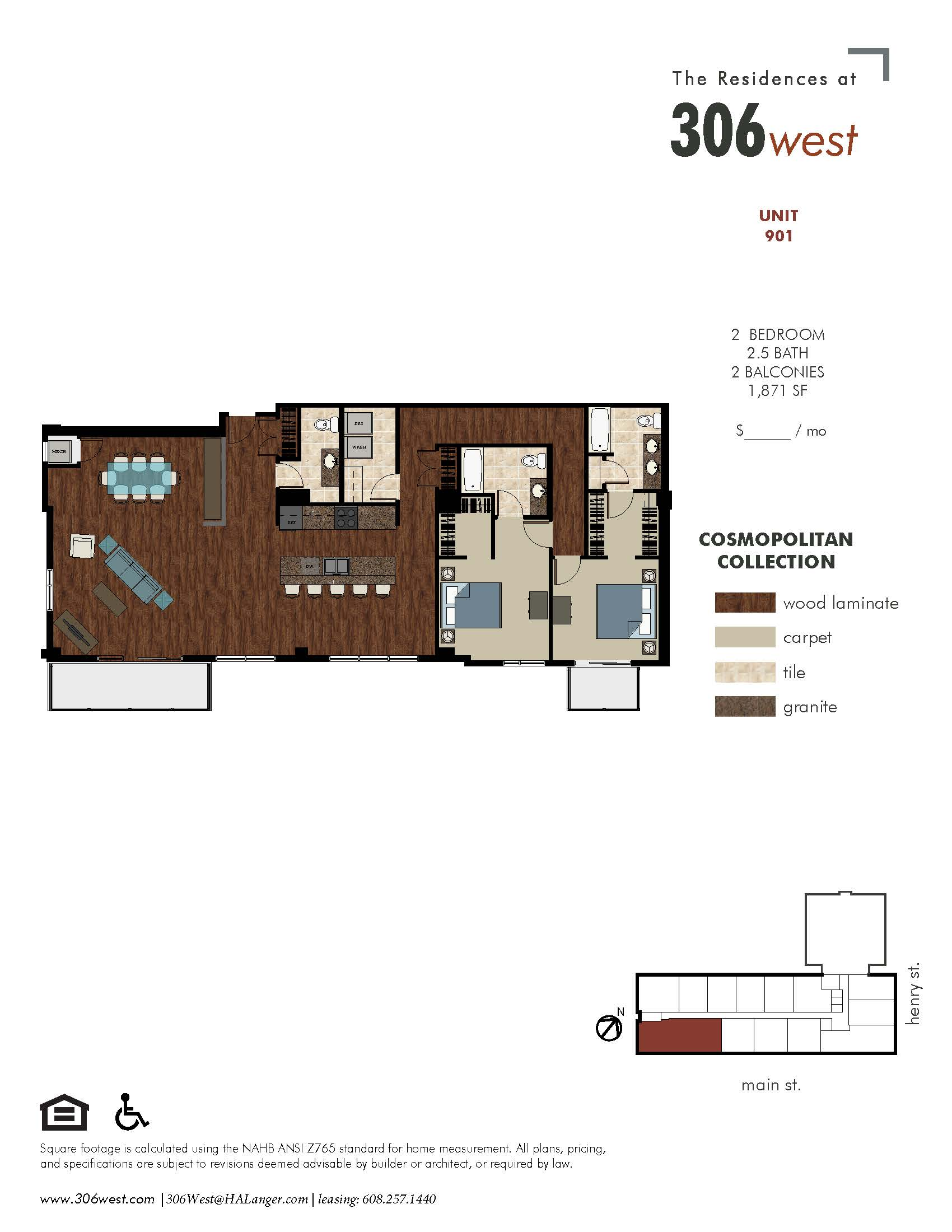 Floor plans 306 west luxury apartments in downtown for 10 madison square west floor plans